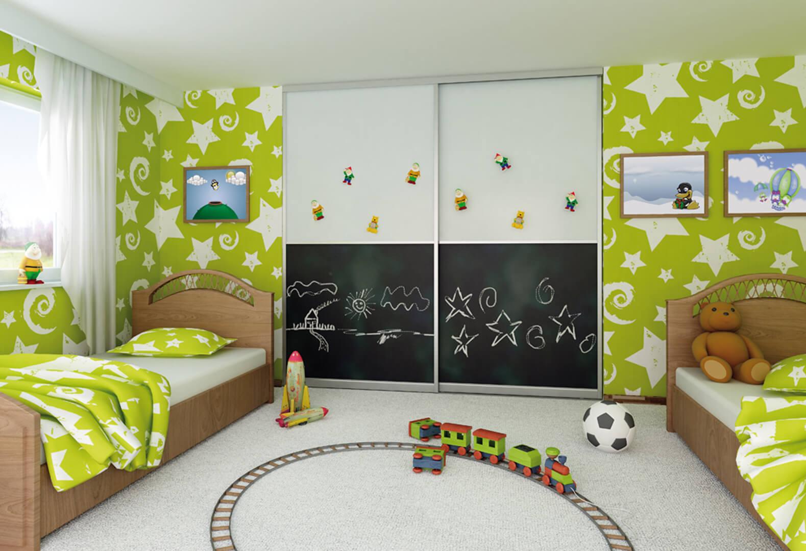 Drzwi przesuwne z możliwością rysowania do pokoju dziecięcego