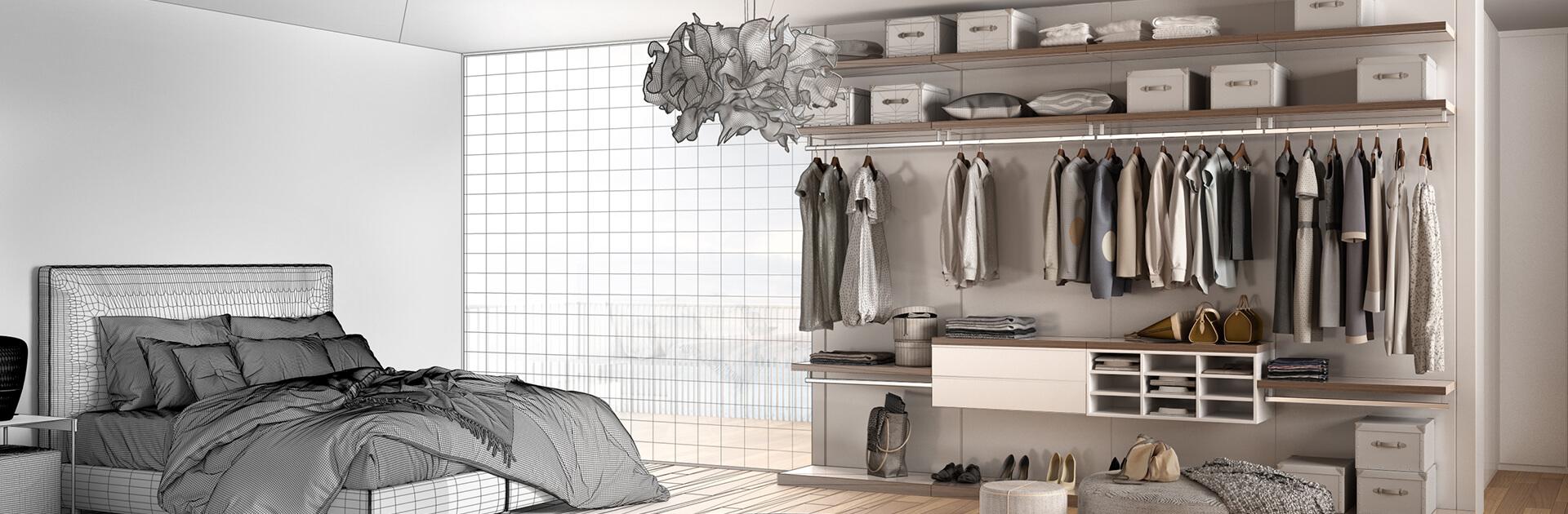 Projekt graficzny szafy na wymiar indeco