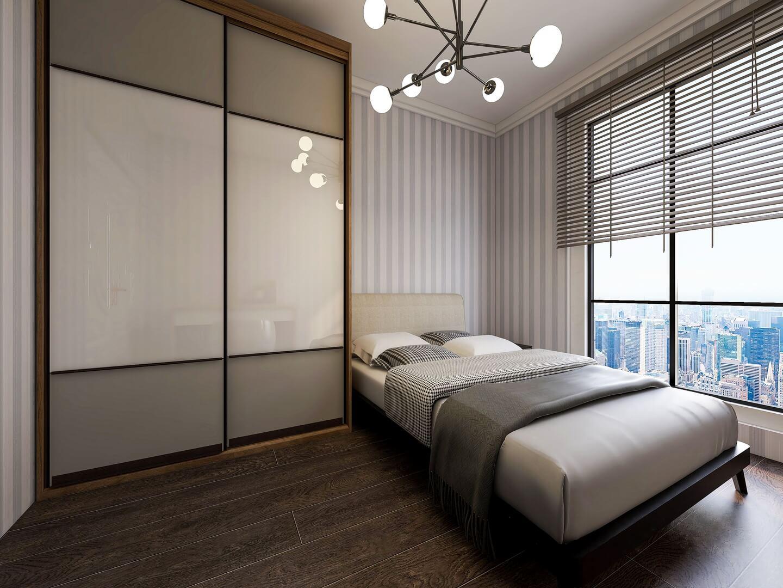 Biało-beżowa szafa na wymiar do sypialni